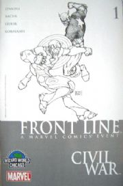 Civil War Front Line #1 Wizard World Chicago Michael Turner Sketch Variant Marvel comic book